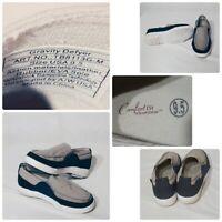 Gdefy Gravity Defyer Henley Men's Gray/Blue  Boat Shoes Casual  9.5 Comfort Fit