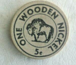 Vintage Wooden Nickel – Albany Hotel, Denver, Colorado