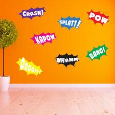 Batman POW Whamm Splatt Bang Kapow POW Crash Ooooff Wall Stickers Kids Decal A10 Large Set