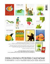 "Collectible 2006 Linnea Poster Calendar Wonderful Holiday artwork 11"" x 14""  EUC"