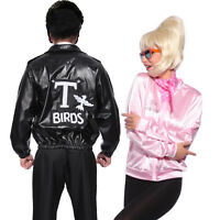 T-Birds Gang Jacket 1950 Mens 50s Black Grease Danny T bird Tbird Costume