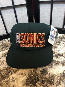 Seattle Sonics Champion vintage 90s snapback hat Shawn Kemp Gary Payton 1994 Nwt