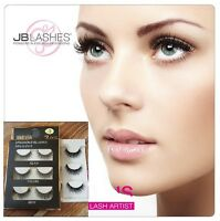 3 Pairs 100% Real Mink 3D Volume Thick Daily False Eyelashes Strip Lashes New