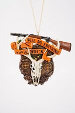Will Do Anything for A Buck Deer Hunting Christmas Ornament
