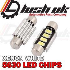 2 X 4 SMD 5630 LED 42MM WHITE NUMBER PLATE INTERIOR LIGHT UPGRADE FESTOON BULB