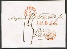 BRIEF AMSTERDAM-PARIJS 7 JAN 1842 MET L.P.B.5.R. EN GRENSST. PAYS BAS 2  Zj287