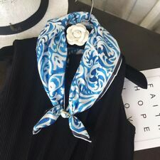 Free Shipping 100% Twill Silk Square Scarf Blue Color 60cm x 60cm
