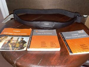 Timex Heart Rate Monitor Transmitter Chest Strap ONLY + Manual & Fitness Guide