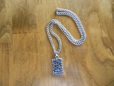 MEN'S HARLEY DAVIDSON PEWTER PENDANT AND STAINLESS STEEL CHAIN NECKLACE