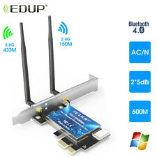 EDUP 600Mbps PCI-E 2.4/5G Wifi Card Bluetooth Adapter Dual Band Wireless Network