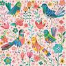 5 SERVIETTEN NAPKINS MAGICAL BIRDS 33 X 33 BUNTE VÖGEL BLUMEN KUNSTMOTIV