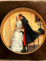 Vintage Norman Rockwell THE Unexpected Proposal Colonial Collection Plates 1986