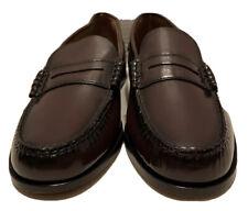 Men's Florsheim Black Leather Slip On Loafer Dress Shoes, Size 8 D