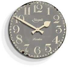 NEWGATE CLOCKS - Large Kitchen Wall Clock Vintage Grey-The Market Hall RRP £60