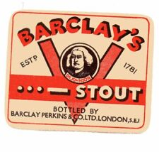 OLD BEER LABEL/S -  UK -  BARCLAY'S - VICTORY STOUT - DOT DOT DOT DASH