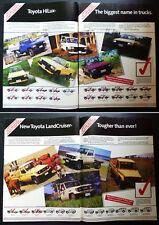 1985 Vintage TOYOTA Ad HiLux LandCruiser HiAce Dyna ToyoAce Van Wagon Truck Ute