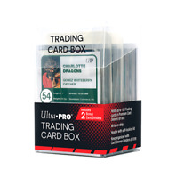 Ultra Pro TRADING CARD BOX Clear Storage Box w/ Dividers Holds Cards in Sleeves