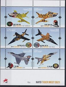Portugal 2021 Transport, Aviation, Military Airplanes, Nato Tiger Meet MNH**