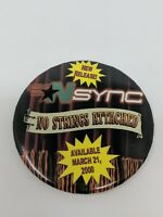 NSYNC No Strings Attached Album Music Button Pin Store Advertising 2000 VTG