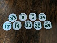 Boston Celtics Greatest Players Fridge Magnet Set - 2.75 inch Magnets - Set of 9