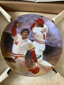 """Limited Edition 1991 Pete Rose """"The Reigning Legend"""" Gartlan Plate"""