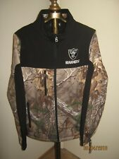 """Real Tree NFL """"CAMO"""" Jacket RAIDERS Men's LARGE Color-Block Soft-Shell (NWT) +"""