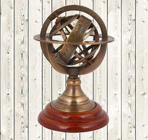 """5"""" Antique Astrolabe Brass Sphere Armillary Collectible Nautical Home Decor"""