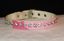 Dog Collars small sizes Light Pink Camo with Crystal Rhinestone Big Jewel Bling!