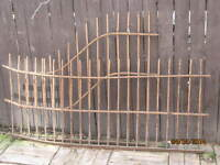 2 Antique Wrought Iron Fencing Railing Sections