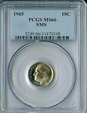 1965 ROOSEVELT DIME PCGS MS-66 SMS .