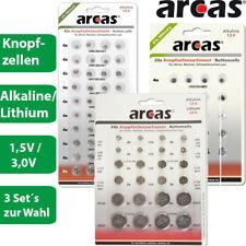 Arcas - Knopfzellen Set- 3 Varianten - mit je 20, 24 oder 40 Batterien 1,5V / 3V