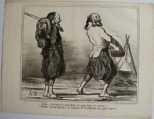 DAUMIER LITHOGRAPHIE ORIGINALE TIRAGE SUR BLANC, ACTUALITÉS N° 83, 1859