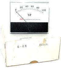 NIB ELDEC S-65 METER 0-100 %P DC1mA, S65