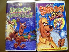 3 Scooby-Doo VHS ~ Witch's Ghost, Great Mysteries & Batman (2 Clamshell 1 Clear)