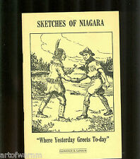"bc - SKETCHES OF NIAGARA ""WHERE YESTERDAY GREETS TO-DAY"" by LeDoux  SB  BC"