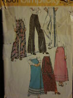 5361 Vintage Simplicity SEWING Pattern Misses Pants & Skirts 14 OOP SEW 1970's