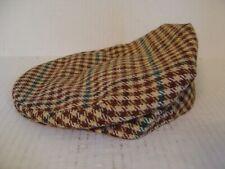 Vintage Kinloch Anderson Brown Tweed Wool Flat Cap Hat Made In Scotland