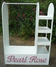 Dressing up stand 1000mm high/3 Shelf bookcase/7 free letters/Painted white