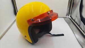 1974 Vintage Lear Siegler  BA-7 Yellow Helmet with Red Visor Medium