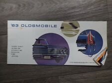 Original Vintage 1963 Oldsmobile Ninety-Eight Super Dynamic 88 Starfire F-85 Jet