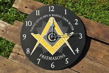 Masonic Square and Compasses Wall Clock - Lodge - Mason - Freemasons