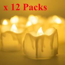 12pcs Super Bright Flameless Waterproof LED Tea Lights Candles Tea Light Home