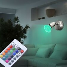 RGB LED Wall Washer Swivel Remote Control Home Dining Room Light Dimmer GU10