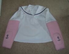 MEN'S POPEYE POP EYE TOP WITH PADDED ARMS SAILOR FANCY DRESS COSTUME M USED