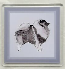 More details for keeshond coaster by curiosity crafts 1 or set of 4
