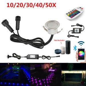 10~50X 31mm RGBWW Bluetooth WIFI 12V IP67 Patio LED Deck Decking Plinth Lights