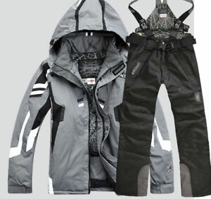 2019 Men's Winter Ski Suit Jacket Waterproof Coat Overalls Snowboard Snowsuits