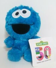 "7.5"" Sesame Street Cookie Monster Plush Toy Stuffed Animal NWT"