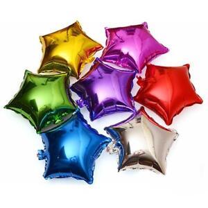 "10 Pcs 10"" Foil Star Helium Balloons Holiday Wedding Birthday Party Balloon YI"