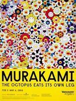 "NEW Takashi Murakami ""Flowers"" Vancouver Art Gallery Exhibition Poster 2018"